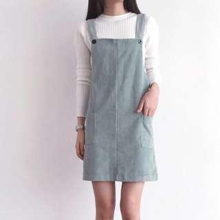 Joyce shop燈芯絨吊帶裙