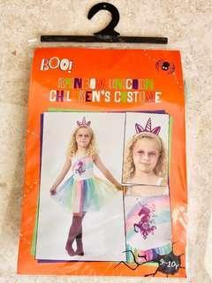 Rainbow Unicorn Children's Costume - with free gift