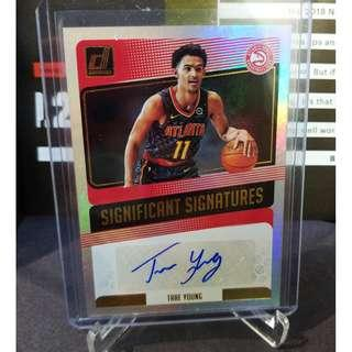 Trae Young 2018/19 Panini Donruss Significant Signatures RC