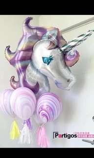 Large unicorn foil balloon