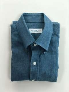 🚚 Dylan & Son - Chambray/Denim texture Shirt