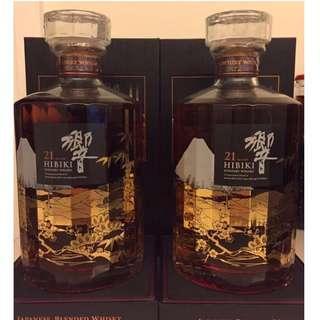響21 花鳥風月 機場 特別版 Hibiki 21 YO Fugetsu 700ml 威士忌 (余市 山崎 白州 珍藏)