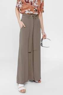 Lovebonito Covet Welda Wide Leg Pants in Taupe XS