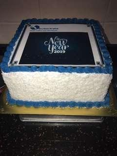 Ondeh ondeh cake with edible image