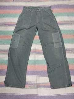 Vtg Military pants 50s og107sateen sage green