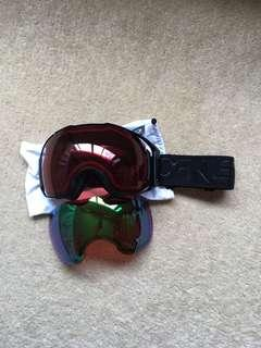 Oakley Airbrake XL - Factory Pilot Blackout - Prizm Jade Iridium + Prizm Rose