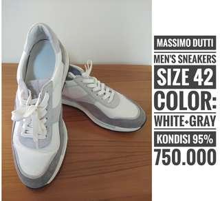 MASSIMO DUTTI, size 42, gray+white, kondisi 95%