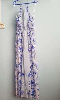 Blue Floral long Dress
