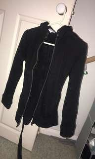 Black thick jacket Parker size small