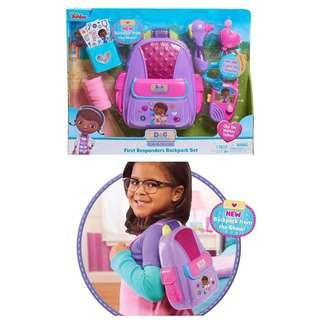 BRAND NEW Doc McStuffins Just Play First Responders Backpack Set