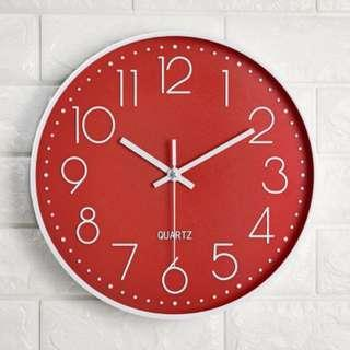 Simple Classics Wall Clock | Plastic Frame | Red Clock