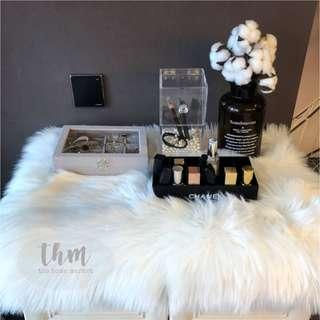 Carpet | Plush Faux Fur Rug | Pristine White Fur Rug