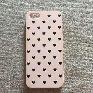 Case iPhone 5/5s/SE - pink heart case