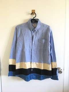 Visvim Button down shirt with hem line details (repriced)
