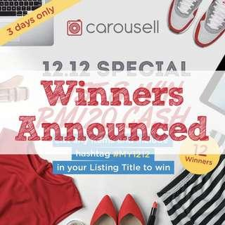 [GIVEAWAY CLOSED] 12.12 Special: List & WIN RM120 CASH!