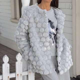 New - French Connection fluffy coat size S (8-10)