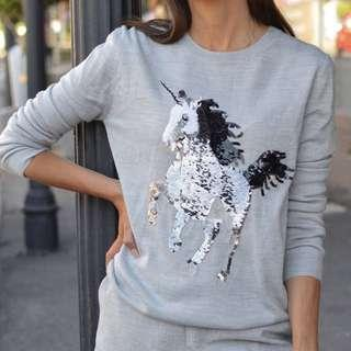 New French Connection unicorn sequins top - S