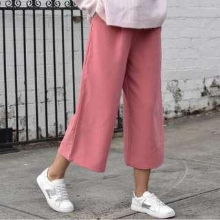 New - French Connection pink culotte pants - 10