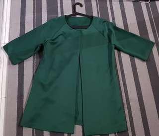 Lubna Green Kimono Blazer