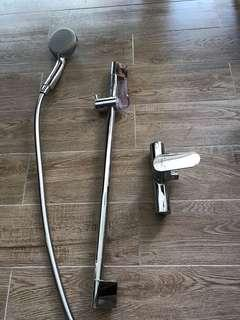 Hansgrohe shower set Vario EcoSmart 9 l/m with shower bar and single lever shower mixer (almost brand new)