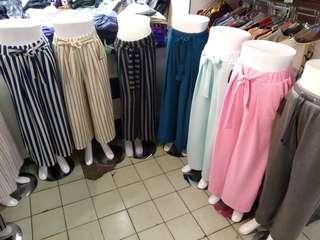 Celana kulot salur dan polos murah !