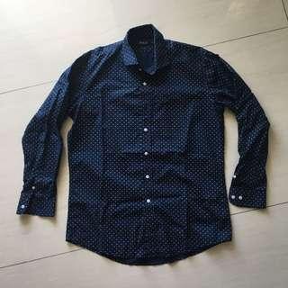 POLO Navy Polkadot Shirt