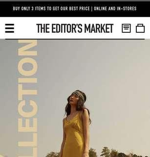 3 ITEMS - 6 piece price ✨The Editor's Market PROMO