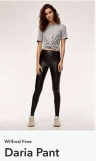 Aritzia Daria leather leggings Size xs