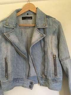 Denim jacket with side zippers