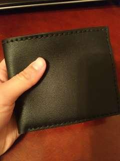 手作 頭層植鞣牛皮 短夾 (送禮盒卡片保養油)