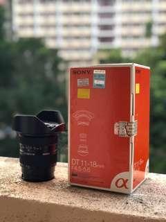 Sony SAL10-18mm f4.5-5.6 A mount lens