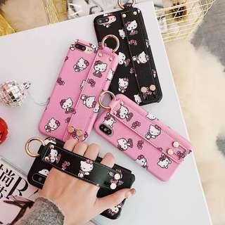 PO Iphone Hello Kitty Strap Handle Casing