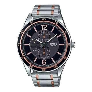 MTP-E319RG-1BVDF MTP-E319RG-1B MTP-E319RG-1 Casio Men Multi Hands Stainless Steel Watch