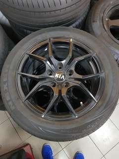 16 Inch 5x114.3 Used Rim & Tyre