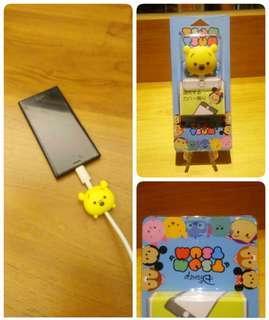 🚚 USB 手機充電線 保護套(小熊維尼)