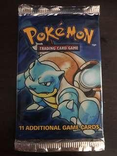 Pokemon TCG 1999 Base Set Booster Pack- Blastoise Artwork