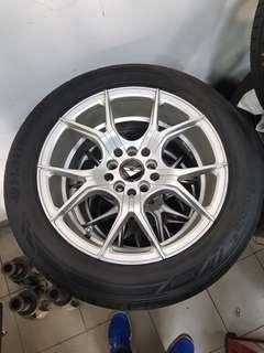 16 Inch 5x100/114.3 Used Rim and Tyre