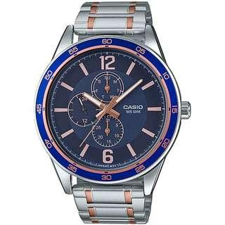 MTP-E319RG-2BVDF MTP-E319RG-2B MTP-E319RG-2  Casio Multi-hands Gents Watch