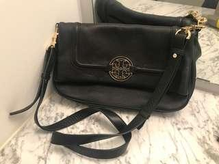 Tory Burch black leather crossbody bag