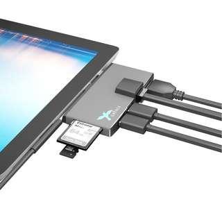 Microsoft Surface Pro 3/4/5/6 6-in-1 USB3.0 HUB, Reader, HDMI & LAN