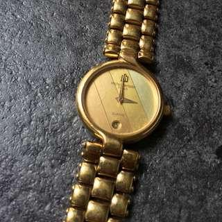 Michel Herbelin Watch 18 K Gold Laminated