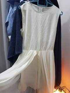 Layered white dress