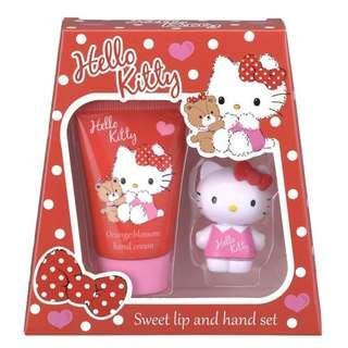 Hello Kitty 潤唇 潤手 套裝
