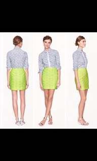 J crew neon yellow skirt size 4