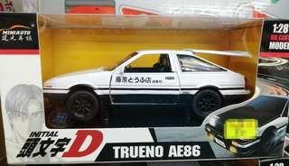 全新 頭文字D AE86 模型 1:28