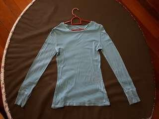 Baby blue ling knit top