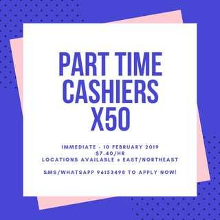Part Time Cashiers Needed x50 || Immediate - 10 February 2019