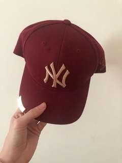 🚚 周子瑜同款 MLB棒球帽 洋基 酒紅 全新