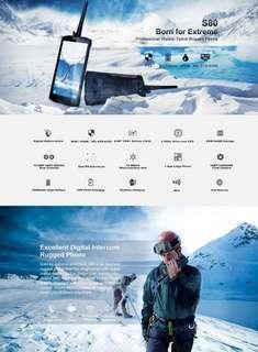 DOOGEE S80 Rugged Phone, 6GB+64GB, Walkie Talkie Function, IP68/IP69K Waterproof Dustproof Shockproof, MIL-STD-810G, 10080mAh Battery, Dual Back Cameras, Fingerprint Identification, 5.99 inch Android 8.1 MTK6763T Octa Core up to 2.5GHz, Network: 4G