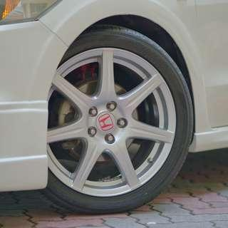 Refurbished TypeR GT LightRims 18X7.5 Yokohama Tyres